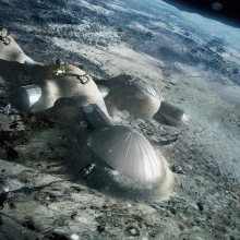 Connected habitats on the moon