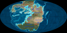 Map of sirian planet, one contiguous continent